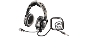 headset with superb logo