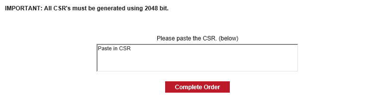 CSR Example to Complete Order Image